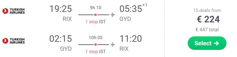 Lēti lidojumi no Baku, Azerbaidžānu no Rīgas