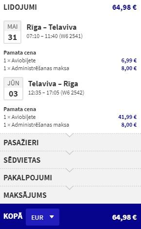 Lēti lidojumi uz IZRAĒLU no Rīgas