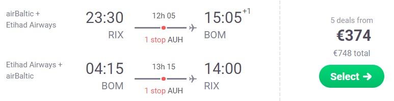 Lēti lidojumi no Rīgas uz MUMBAJU INDIJA