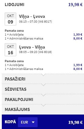 Lēti lidojumi uz ĻVOVU no Viļņas