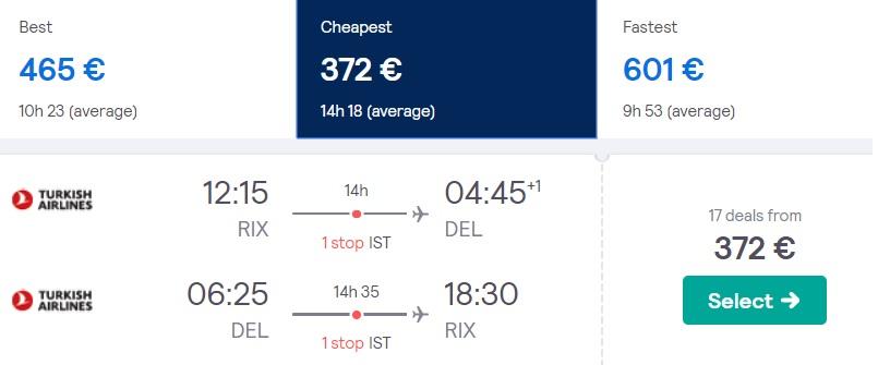 Lēti lidojumi uz INDIJU no Rīgas