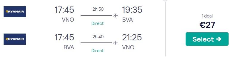 Lēti tiešie lidojumi uz PARĪZI no Viļņas