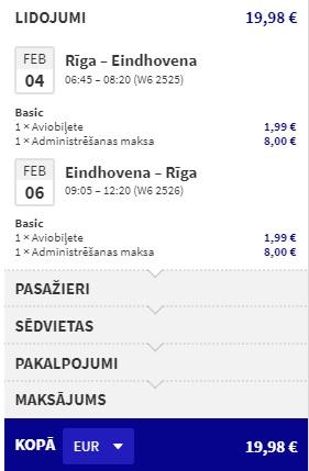 Lēti lidojumi uz EINDHOVENU no Rīgas