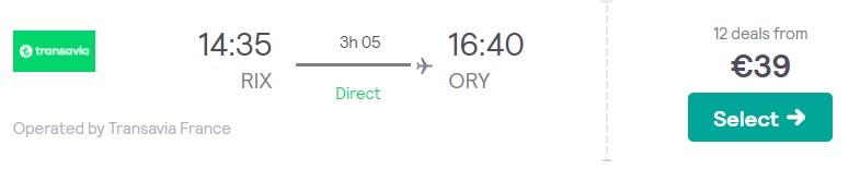 Transavia uzsāks lidojumus no Rīgas uz PARĪZI