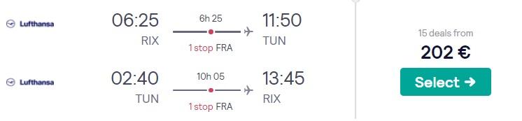 lēti lidojumi uz tunisiju no rīgas