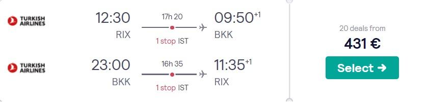 Lēti lidojumi uz Bangkoku TAIZEMI no Rīgas